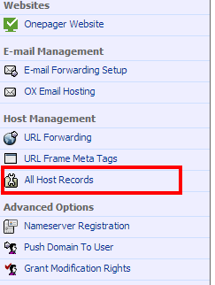 all host records in namecheap