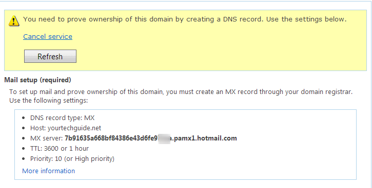 prove domain ownership
