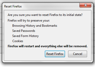 Firefox Reset Confirm